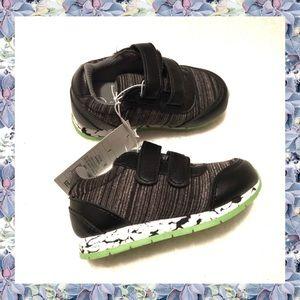 Cat & Jack Toddler Boys Marled Black Sneakers NWT